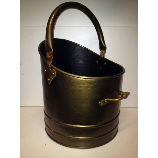 !NEW! HEAVY DUTY LRG BRUSHED ANTIQUE BRASS Quality Coal Bucket Hod Ash Fire Log