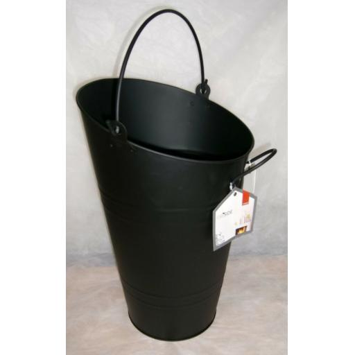 DEVILLE Tall Wide Jumbo Coal Fire Log Burner Ash Bucket Hod Holder Handle BLACK
