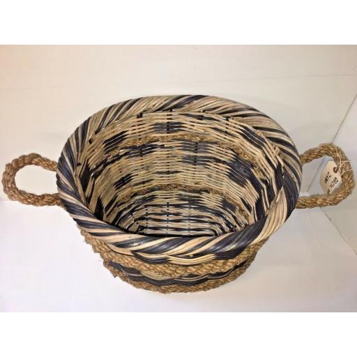 Oval Heavy Duty - Hand Made Rattan Wicker Fire Log Basket Laundry Storage (532)