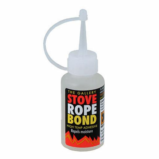 Glass Fibre STOVE ROPE BOND 50ml Adhesive Glue Fire