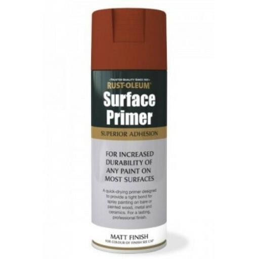 SURFACE PRIMER RED Rust-oleum Fast Dry Spray Paint Aerosol 400ml