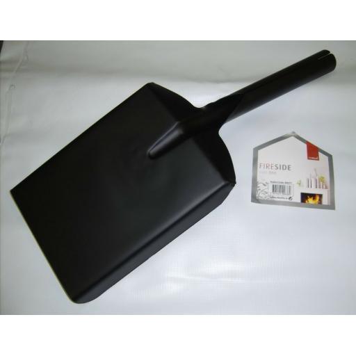 "Deville Strong Satin Black 6.5"" Fire Shovel for Ash Coal Logs Soot Scoop Spade"