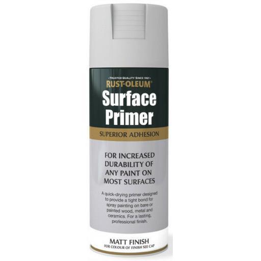 SURFACE PRIMER Rust-oleum Fast Dry Spray Paint Aerosol 400ml GREY