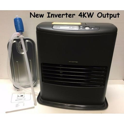 NEW Model INVERTER 6003 4000w 4kw Indoor Paraffin Kerosene Heater ODOURLESS