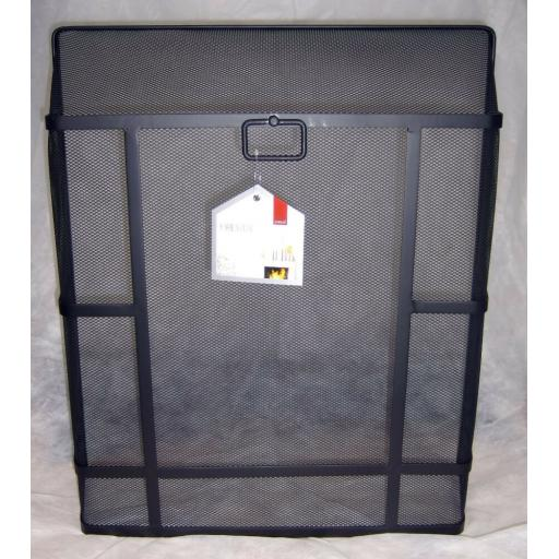 """X-LARGE Deville Heavy Duty Square Top Fire Screen Spark Guard 28""""x24"""" carry ring"""