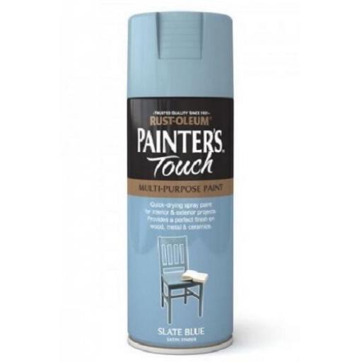 Slate Blue Satin Fast Dry Spray Paint Aerosol 400ml Multi-Purpose RUST-OLEUM