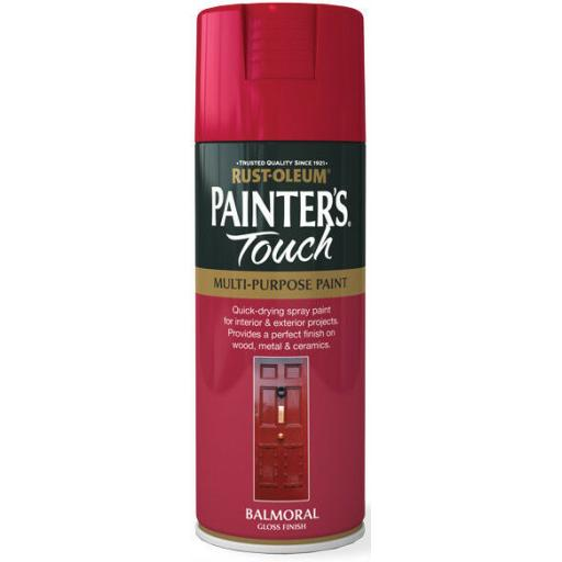 BALMORAL RED GLOSS Fast Dry Spray Paint Aerosol 400ml