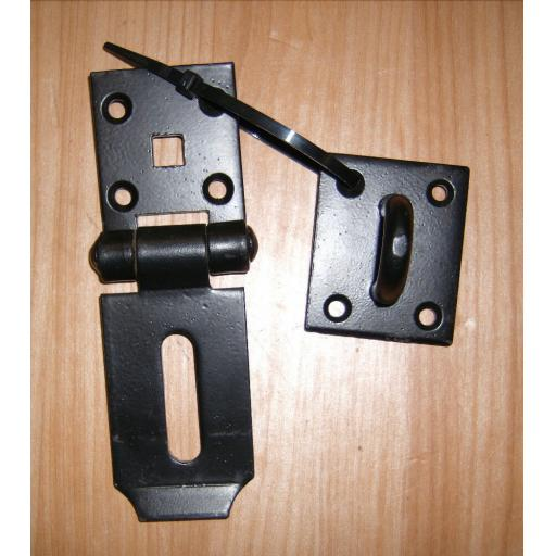 "SQ Heavy Duty Hasp & Staple Door Shed Garage lock 4""x2"""
