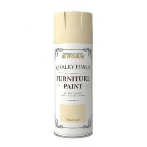 Shabby Chic - Rust-oleum 400ml - CHALKY FINISH FURNITURE PAINT Spray Can Aerosol