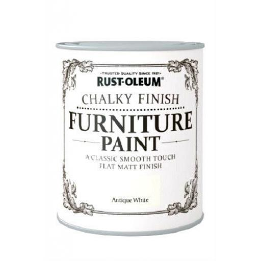 Rust-Oleum Shabby Chic Rustic Chalk Chalky Furniture Paint 750ml Vintage Paints