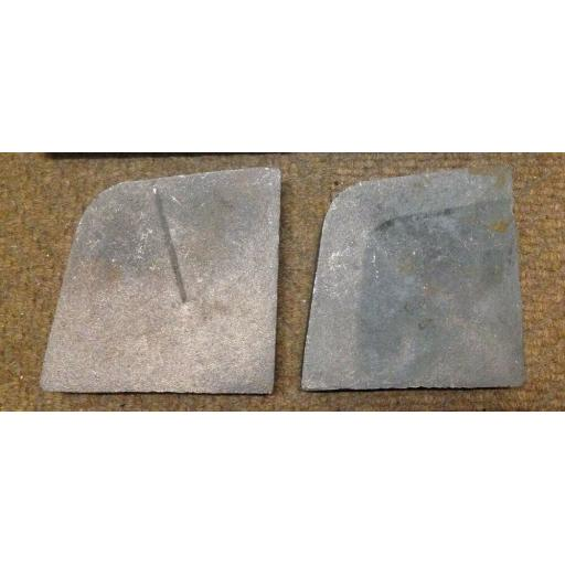 "!NEW! Cast Iron Fire Brick Side Cheeks for 16"" & 18"" Coal Solid Fuel Grate Metal"