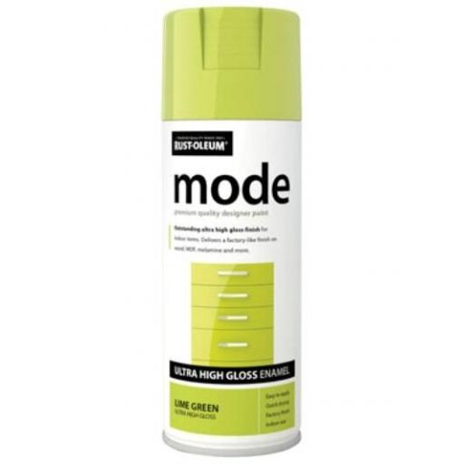 MODE LIME GREEN HIGH GLOSS RUST-OLEUM Fast Dry Spray Paint Aerosol 400ml
