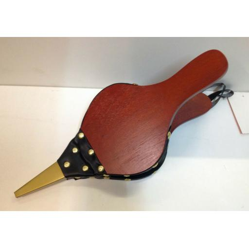 """!!NEW!! Traditional Fire Bellows Red Mahogany Colour with Brass Rivets 16"""""""