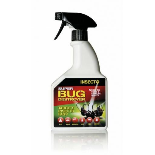 INSECTO SUPER BUG DESTROYER Killer Spray Strong 500ML Ready to Use Insect Kill