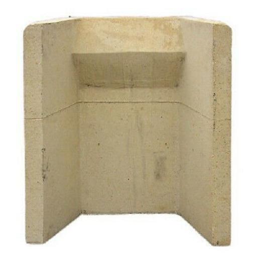 "18 "" Inch Clay Fire Back Surround Solid Fuel Open Coal Fireback One Piece Build"