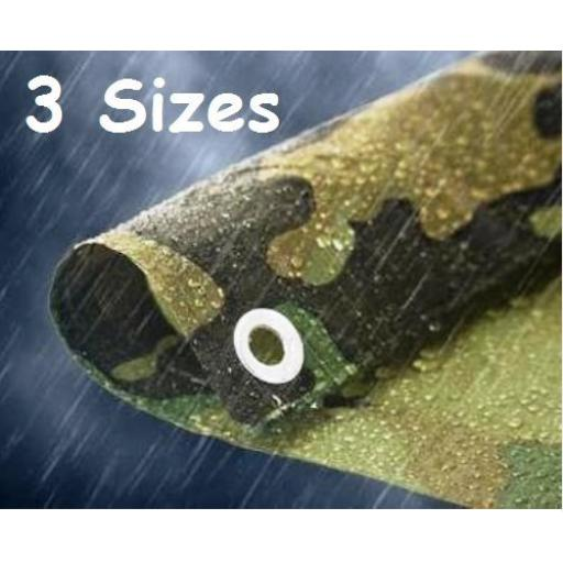 NEW Camo Camouflage Tarpaulin Tarp Waterproof Army Fishing Camping Ground Sheet