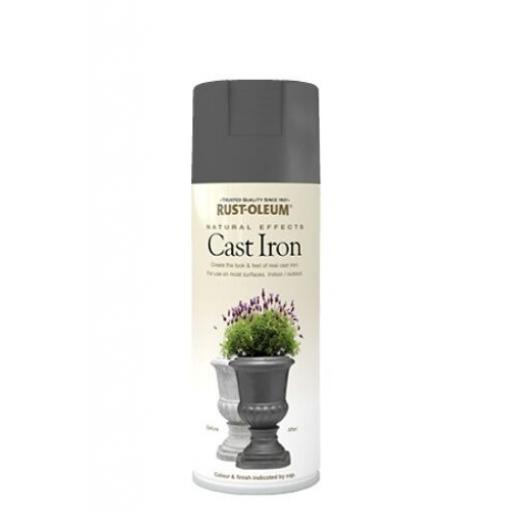 NATURAL EFFECTS CAST IRON RUST-OLEUM Spray texture & feel Paint Aerosol 400ml