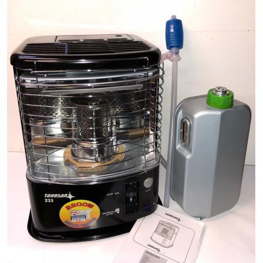 Indoor Paraffin Heater COOL TOP Tayosan 233 2.2Kw Portable Kerosene Wick Burner