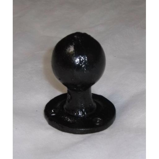 Black Antique Cast Wrought Iron Round Rim mortice Knob Door Knobs Handles Set
