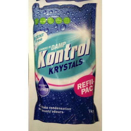Damp Moisture Kontrol Krystals Refill Packs & Traps Crystals Condensation Water