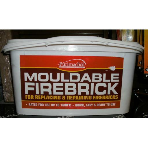 NEW Mouldable Firebrick Make any size Fire Brick Cement