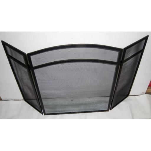 "Deville Classic Heavy 3 Fold Fire Screen Spark Guard 24""hx38""w Coal Log Burner"
