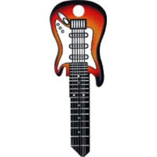 Sunburst Electric Guitar Rockin' Keys Blank Key fits Yale 1A/U6D