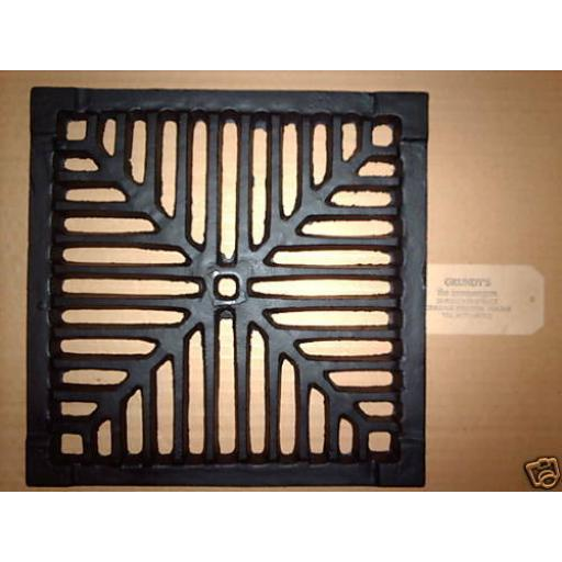 "12"" SQUARE Cast Iron Gully Grid Driveway Drain Cover"