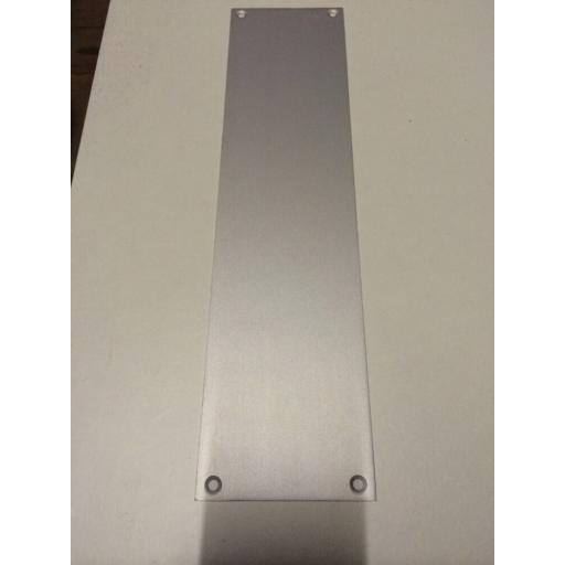 !!NEW!! SAA Satin Aluminium Finger Push Door Plate 75mm X 300mm Holes Drilled