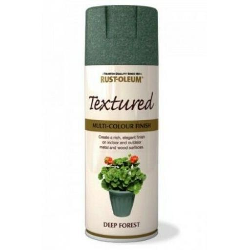 TEXTURED DEEP FOREST RUST-OLEUM Spray texture & feel Paint Aerosol 400ml