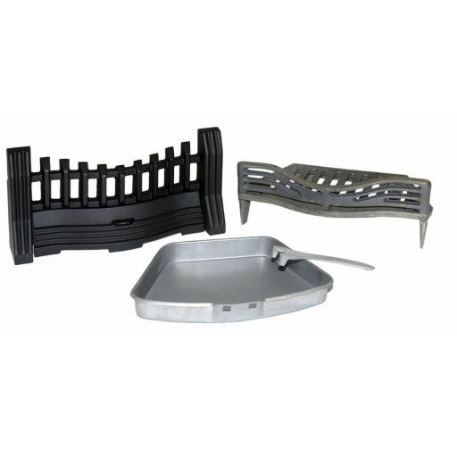 "JOYCE Solid Fuel Coal Fire KIT 16"" Grate Ashpan Fret Set Open Fuel Fireplace"