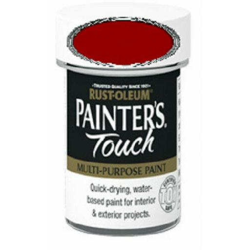 DEEP RED GLOSS Enamel TOY SAFE Interior / Exterior Brush Paint Pot Tub 20ml