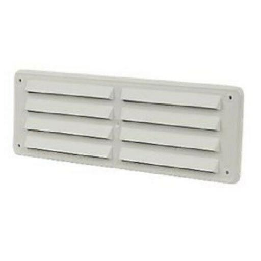 "!!NEW!! 3.5""x9.5"" Louvre Hit & Miss Air Vent Ventilator Cover White"