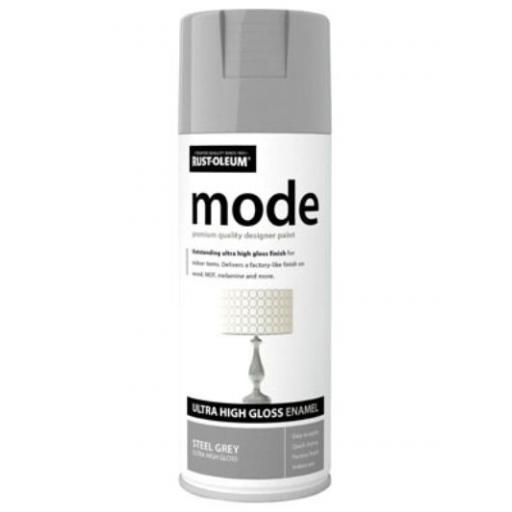 MODE STEEL GREY HIGH GLOSS RUST-OLEUM Fast Dry Spray Paint Aerosol 400ml