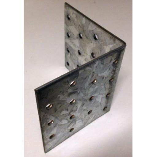 !!NEW!! 80x80 HEAVY DUTY Galvanised Steel Angle L Corner Bracket Repair Mending