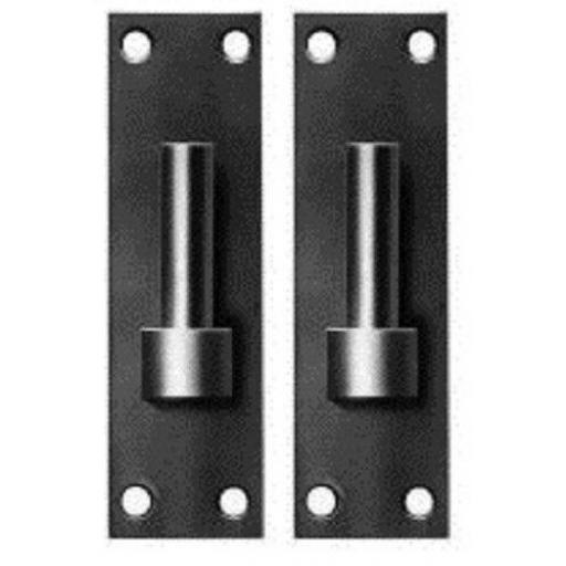 "2 x 12.5mm 1/2"" Hook on Plate Gate Band Hinge Pin BLACK Colour Heavy Duty 1 Pair"