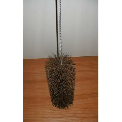 "6"" inch Wide 6 Foot Flue Brush Chimney Soot Cleaning Sweeping Coal Fire Sweep"