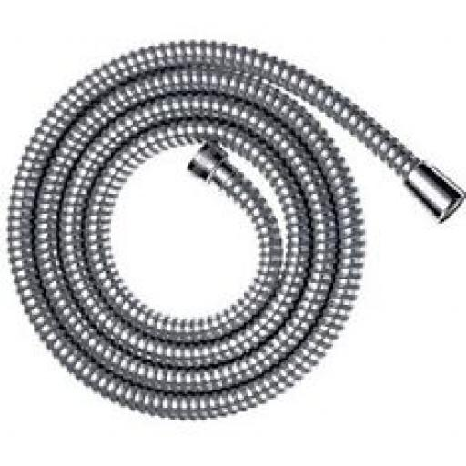 CHROME SHOWER HOSE PIPE HIGH FLOW 8MM BORE X 1.5m long