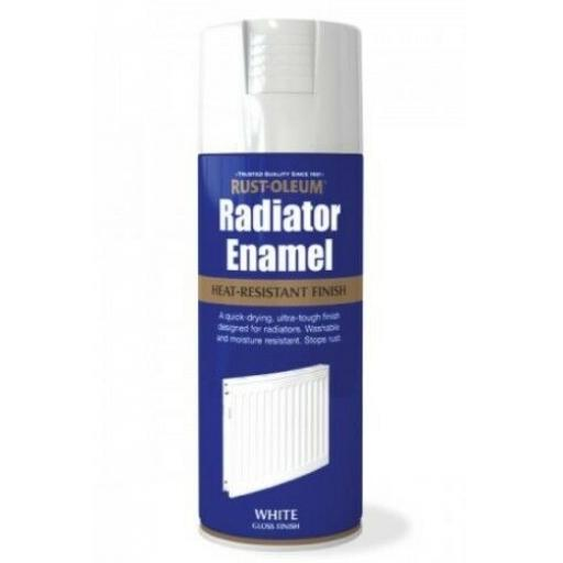 RADIATOR ENAMEL WHITE GLOSS RUST-OLEUM Fast Dry Spray Paint Aerosol 400ml