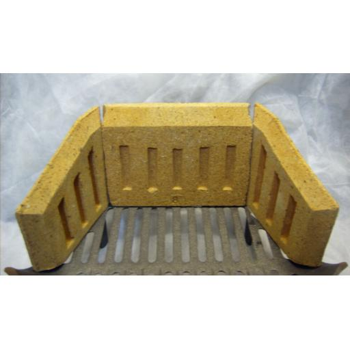 "Fire Brick Set Sides & Back 8, 9, 10, 11"" inch for Coal Solid Fuel Grate Burner"
