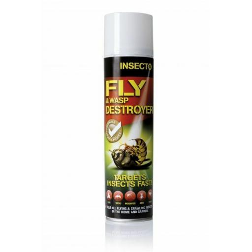 INSECTO FLY & WASP DESTROYER KILLER AEROSOL STRONG