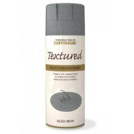 TEXTURED AGED IRON RUST-OLEUM Spray texture & feel Paint Aerosol 400ml