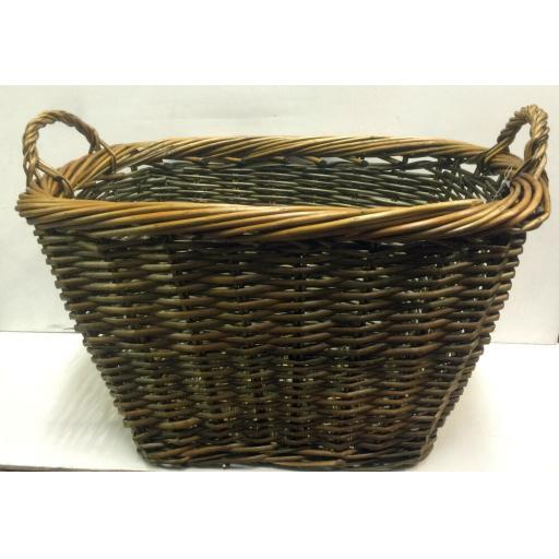MANOR 0396 HEAVY DUTY Wicker Coal Fire Log Country Laundry Storage Basket 70x55