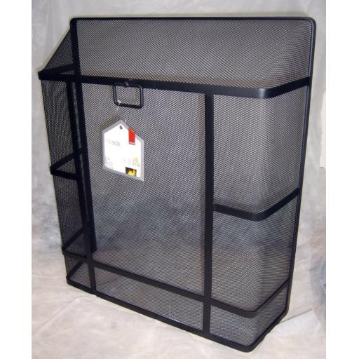 "Deville Heavy Duty Square Top Fire Screen Spark Guard 24""x21"" with carry ring"