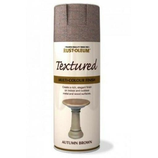 TEXTURED AUTUMN BROWN RUST-OLEUM Spray texture & feel Paint Aerosol 400ml