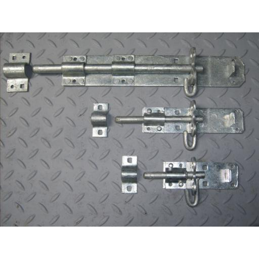 Quality Sliding Padlock Pad Bolt Galvanised Door Gate Garden 4 6 8 10 12 inch