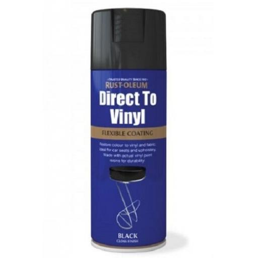 DIRECT TO VINYL GLOSS BLACK RUST-OLEUM Fast Dry Spray Paint Aerosol 400ml