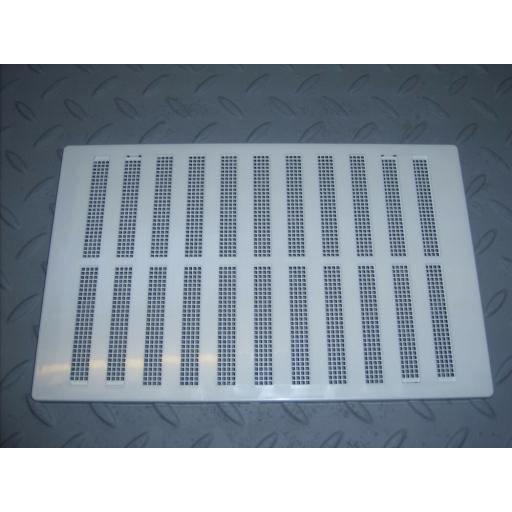 "!NEW! 6.5""x9.5"" Hit & Miss Air Vent Ventilator Cover White Adjustable Flyscreen"