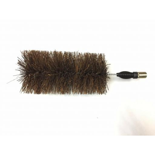 "!!NEW!! 5"" Inch FITS DRAIN RODS Flue Brush Fire Chimney Soot Cleaning Sweeping"