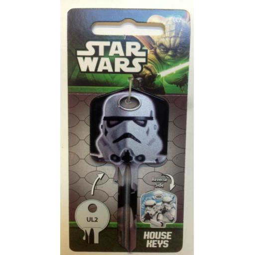 Star Wars STORMTROOPER Blank Key fits Yale 1A/U6D/UL2 Sith The Force Awakens